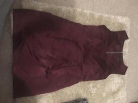 Newlook burgundy dress