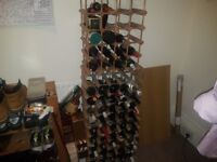 Wine Rack and Bottles (Sealed) Collection 1k