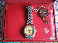 LADIES ROLEX Vintage Oyster Perpetual Date with RARE Dial, Jubilee Gold Bracelet and Box c1978