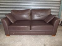 Marks & Spencer Brown Leather 2-seater Sofa (Suite)