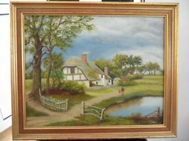 painting of country scene