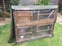 Large rabbit hutch with cover 2 tier £30 ono