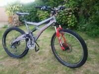 Marin mountain bike full suspension/like kona/ specialized