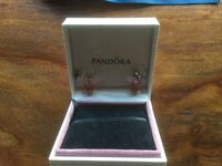 Pandora Pink Gem Earrings New and Boxed