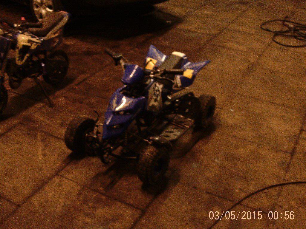 mini moto quad and mini moto scrambler