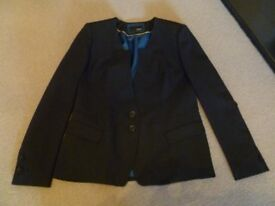 WOMENS LAURA ASHLEY NAVY JACKET - SIZE 16