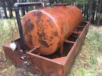 Diesel oil storage tank