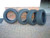 Set of 4 part-worn winter runflat tyres.