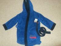 Thomas blue dressing gown 3-4yrs