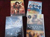 Kingdom of Heaven, Glory, The 300 Spartans, The Last of the Mohicans