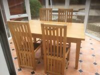 BEAUTIFUL DINING TABLE & FOUR CHAIRS (Leekes)
