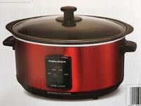 Morphy Richards Slow Cooker Red New