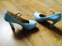 Brand new size 6 Light Blue high heels