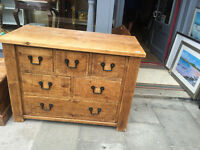 Large Chest of Drawers in reclaimed wood . Good condition .