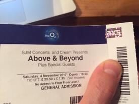 Above & Beyond Ticket