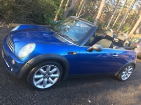 Mini One Convertible, metallic blue 1.6L with Chilli Pack