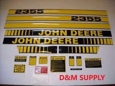 John Deere 2355 Tractor Decal Set With Caution Kit 408