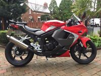 2016 HYOSUNG GT125R RACE REP BIG 125CC BIKE MUST BE SEEN ONLY 860 MILES £3700 NEW ,-ONLY £2299