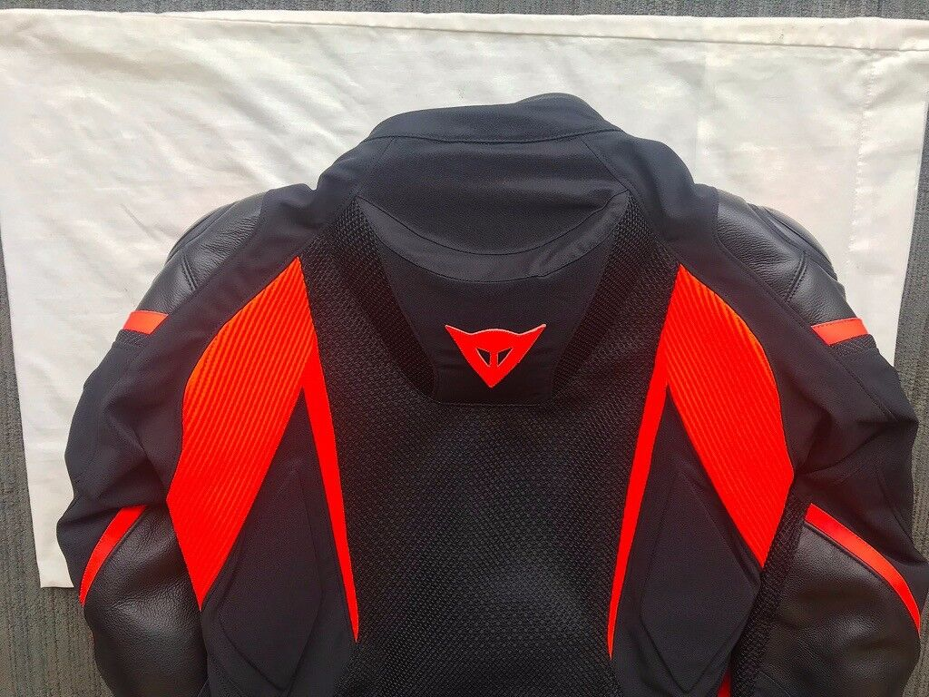e50b8cace Dainese Super Rider D-Dry Textile Jacket - Black   Black   Red Fluo ...