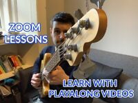 Bass Guitar Lessons on Skype/Zoom. FIRST LESSON FREE!