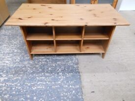 antique pine coffee table with compartments. excellent condition can deliver
