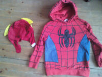 Spiderman Hoodie age 5 to 6 years boys (or girls !) and the Flash mask