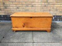Antique solid wood chest/trunk/blanket box