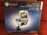 CCTV MONITOR AND CCTV CAMERA ( NEVER USED)