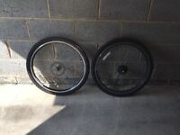 Pair of Bronx Bike Tyres/Wheels