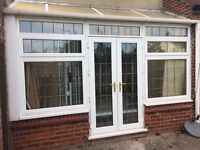 French Doors and window set leaded pvc