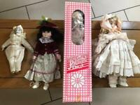 Small collection of vintage porcelain dolls