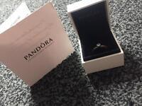 Pandora heart silver ring