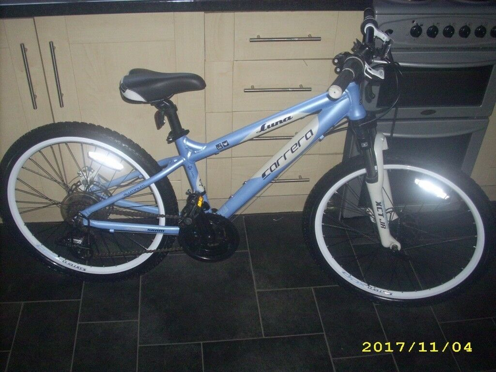 Carrera Luna 24 Girls Childrens Mountain Bike Disc Brakes Xmas Present Immaculate Cost £275