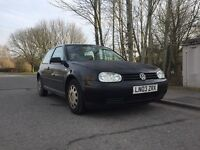 Volkswagen Golf 03 reg in black low insurance group,px options available