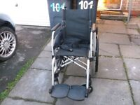 full size alloy wheelchair for sale, no offers, please read description