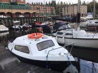 17 Foot Cabin Boat With 25hp Suzuki