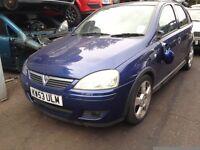 2003 Vauxhall Corsa C 1.4 16v SRi 5dr ultra blue z 21b 4cu BREAKING FOR SPARES
