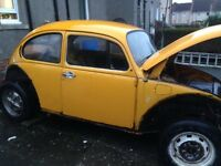 VW Beetle 1200, 1974, N reg, project - £550 or SWAP For VW Golf mark 1 or 2 project