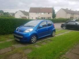 Peugeot 107 5 door in blue. Taxed till March 2019, MOT due 11 February 2019