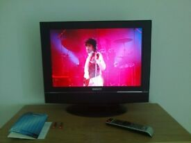 22 inch TV C/W DVD player, no freeview