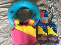 Range of Water floats - ring, floaties jacket, armbands, safety ring