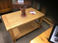 Solid oak coffee table * free furniture delivery *
