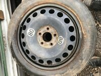 "Vauxhall Astra / Zafira 5 Stud 16"" space saver spare wheel and tyre"