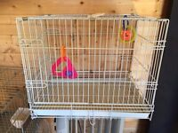 Bird Cages, & Pet Carriers, bird food, toys, Books etc. Clear out.