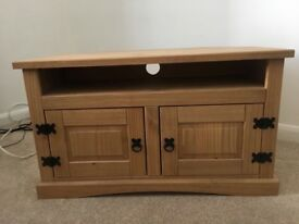 Corner TV Solid Wood Cabinet
