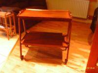 Wooden tea trolley