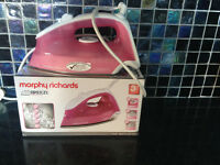 Pink Morphy Richards Steam Iron