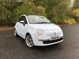2008 FIAT 500 LOUNGE 1.4 BLUE STUNNING CAR MUST SEE 57,000 MILES MOT ONE YEAR £4495 OLDMELDRUM