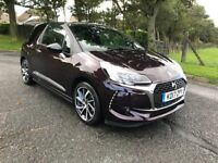 2017 Citroen DS3 PRESTIGE, 1.6 BLUE HDi, 8K MILES, SAT NAV, NATIONWIDE DELIVERY...small family car..