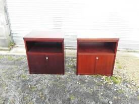 Pair of office / bedside cabinets